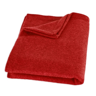 Fleece Red Top Stitched Throw Blanket