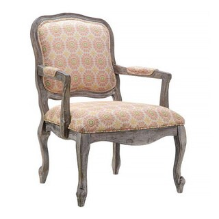 Suzani Poppy Fabric Accent Chair