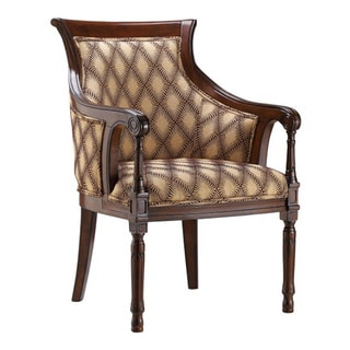 Tanager Dark Cherry Barrel-back Accent Chair