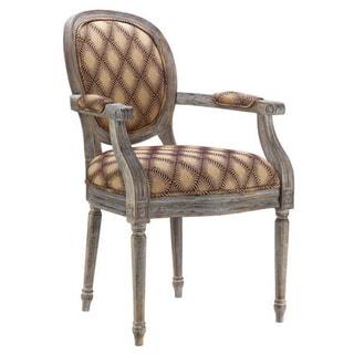 Sitella Walnut Glaze Fabric-upholstered Accent Chair