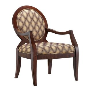 Iago Latte Fabric Round-back Accent Chair