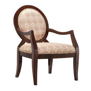 Pere Citrus Medallion Fabric Round-back Accent Chair