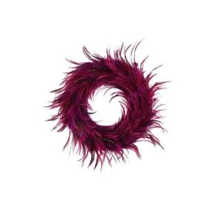 Hackle 18-inch Peacock Feathers Holiday Wreath