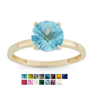 Gioelli 10k Yellow Gold 2ct TGW Round-cut Birthstone Rings