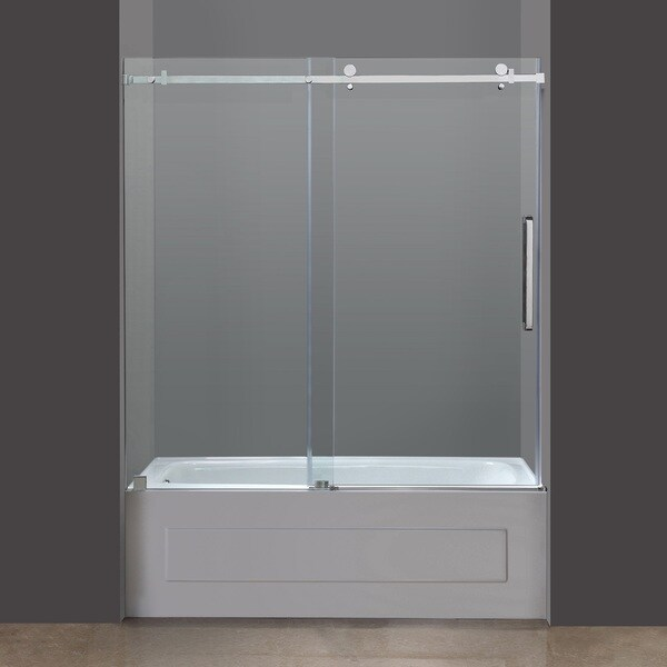 Infinity Z 56 Inch To 60 Inch Frameless Glass Sliding Tub Door