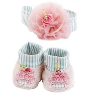 Girls' Baby Cakes Cupcake Headband and Booties Gift Set