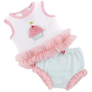 Girls' Baby Cakes 2-piece Cupcake Outfit