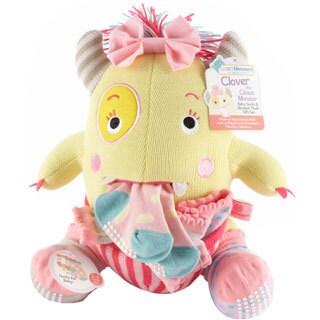 Girls' Clover the Closet Monster Knit Baby Socks and Plush Monster Gift Set