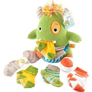 Calvin the Closet Monster Knit Baby Socks and Plush Monster Gift Set