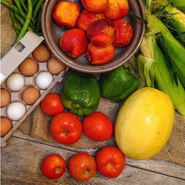Farmer Next Door Seasonal Produce Bundle with Local Eggs (Local Delivery)