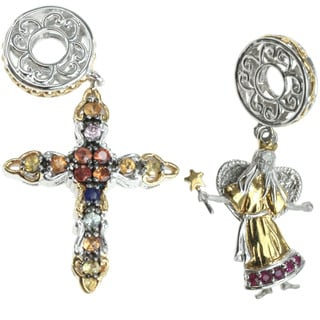 Michael Valitutti 'Christmas Angel' and 'Cross' Charm Set