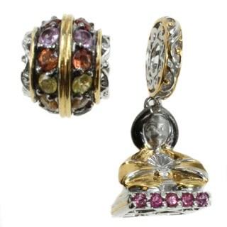 Michael Valitutti Sterling Silver Multi Gemstone Geisha Charm Set
