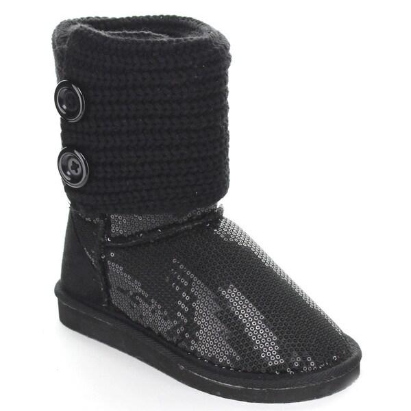 Rck Bella Women's 'Guru-7' Knit Double Button Mid-calf Boots