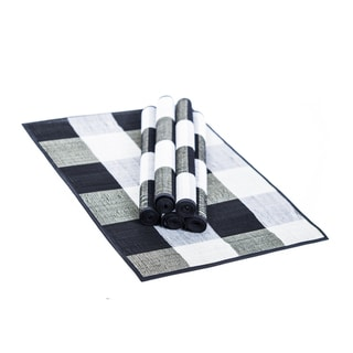 Handwoven Cotton Checky Placemats (Set of 6)
