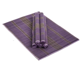 Handwoven Cotton Amaranthine Placemats (Set of 6)