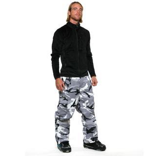 Pulse Men's Snow Camo Plus Sized Snowboard Pants
