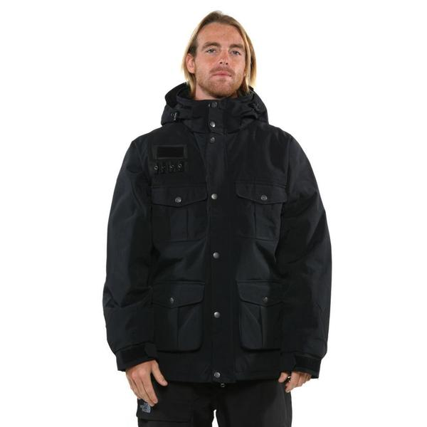 Pulse Men's Black Bomber Hooded Jacket