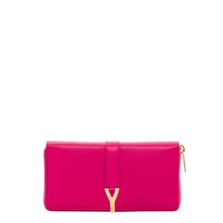 Saint Laurent Classic Leather Y Zip-Around Wallet