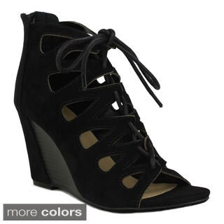 Mark and Maddux Women's Stana-09A Lace-up Wedge