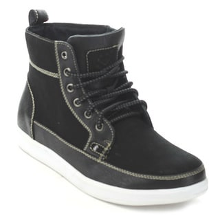 Polar Fox Mpx-55009S Men's Black Lace-Up Ankle Boots