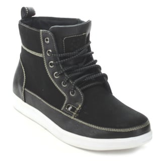 Polar Fox Mpx-55009S Men's Black Lace-Up Ankle Boots