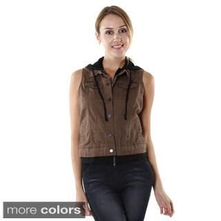 Hadari Womens Casual Hoodie Vest