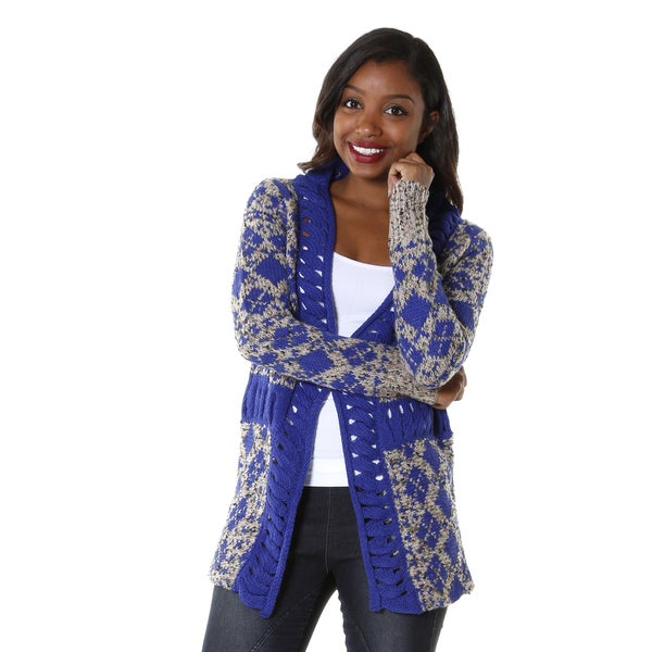 Hadari Women's Abstract Patterned Cardigan