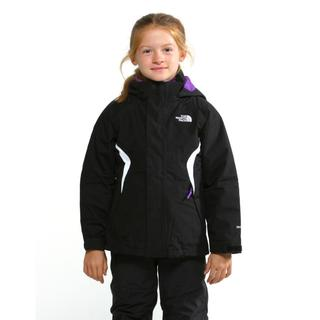 The North Face Girl's Boundry Black/ Pixie Purple Triclimate Jacket