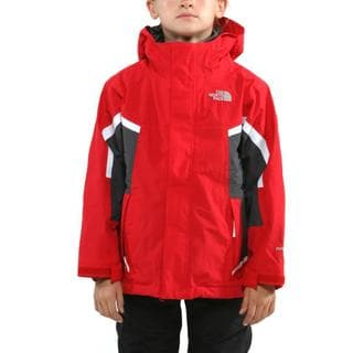 The North Face Boy's Nimbostratus Red/ Graphite Grey Jacket