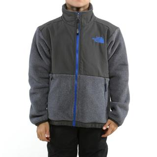 North Face Boy's Denali Charcoal Grey & Nautical Blue Jacket