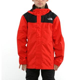 The North Face Boy's Resolve Fiery Red and TNF Black Jacket