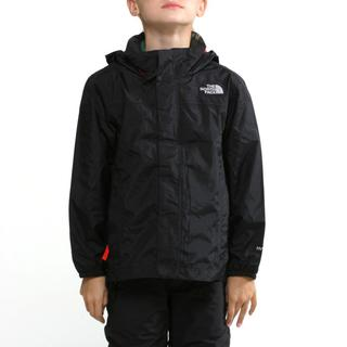 The North Face Boy's Resolve TNF Black and Fiery Red Jacket