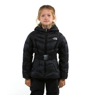 The North Face Girl's Collar Back Down TNF Black Jacket