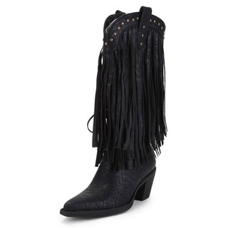 Ann Creek Women's 'Alley' Fringed Stud Boots