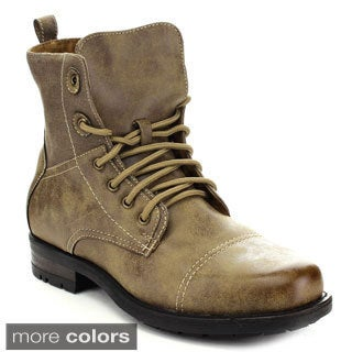 Polar Fox Men's Lace-Up Combat Ankle Boots