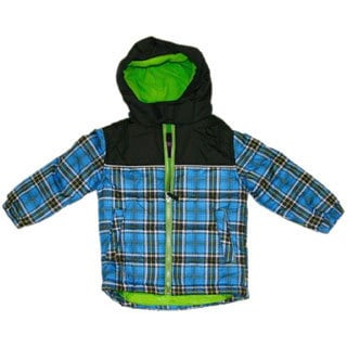 Northpoint Toddler Boys Plaid Bubble Jacket