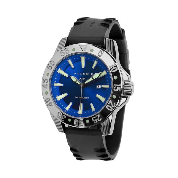 Android Men's 'Time Machine' Stainless Steel Blue Watch