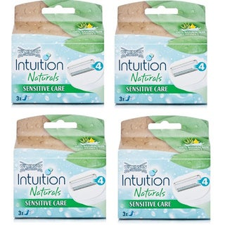 Schick Intuition Naturals Sensitive Care Razor Refill Cartridges (Pack of 4)
