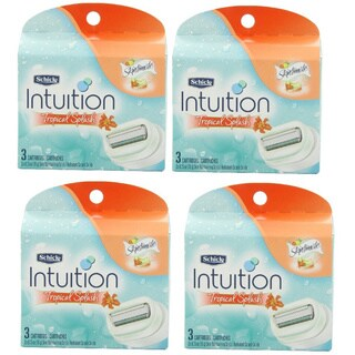 Schick Intuition Moisturizing Tropical Splash Razor Refill (Pack of 4)