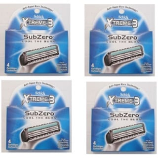 Schick Xtreme3 SubZero Cartridges 4-count Package (Pack of 4)