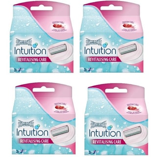 Schick Intuition Revitalising Care Pomegranate Razor Refill (Pack of 4)