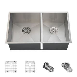MR Direct 3322O Kitchen Ensemble Stainless Steel 90 Degree Sink