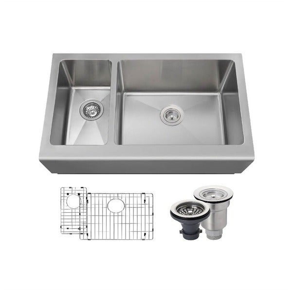 MR Direct 407 Kitchen Ensemble Stainless Steel Apron Sink