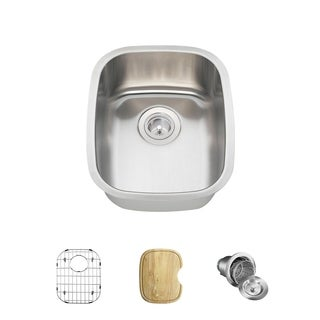MR Direct 1815 Kitchen Ensemble Stainless Steel Bar Sink