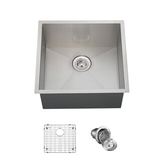 MR Direct 2321S Kitchen Ensemble Stainless Steel Single Bowl Sink