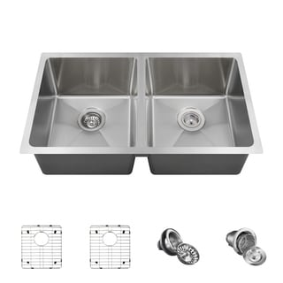 MR Direct 3120D Kitchen Ensemble Stainless Steel 3/4 Radius Sink