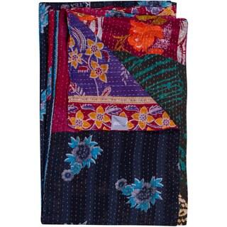 Taj Vintage Handmade Kantha Rectangular Throw