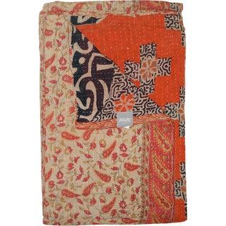 Taj Hotel Vintage Handmade Kantha Blanket