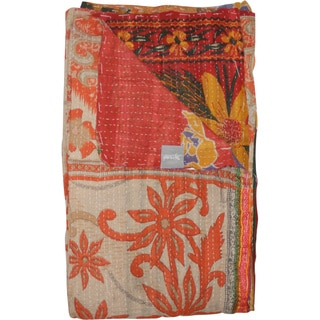 Taj Hotel Vintage Handmade Kantha Cotton Throw