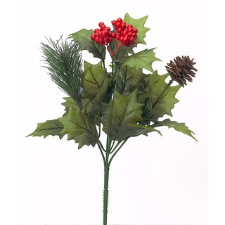 Sage & Co 13-inch Holly Berry Bush, Assortment of 2 (Pack of 24)